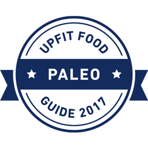 Upfit Retaurant Guide - Paleo Best Of Badge
