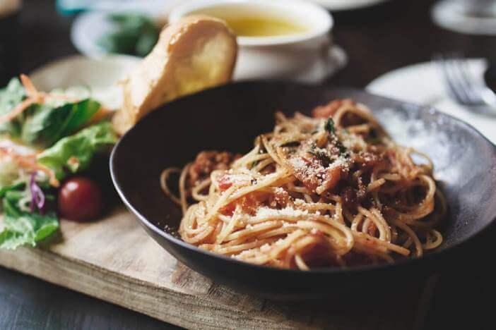 Upfit Spaghetti Tomaten Aubergine