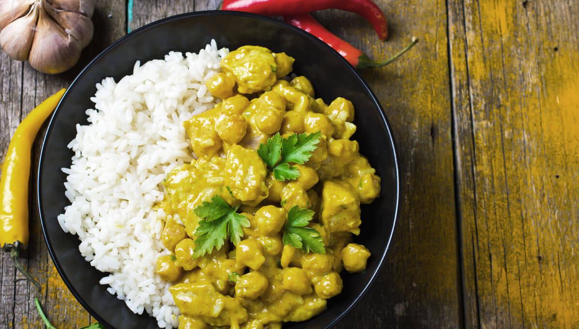 Upfit Putenbrust Auf Curryreis